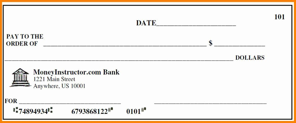 Free Editable Cheque Template Awesome 10 Editable Blank Check Template
