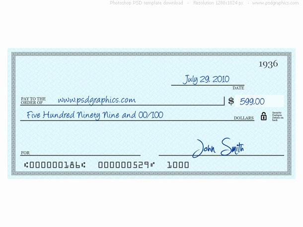Free Editable Cheque Template Best Of Blue Check Psd Template