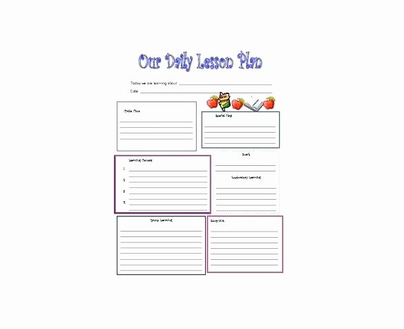 Free Editable Lesson Plan Template Beautiful Free Printable Lesson Plan Template