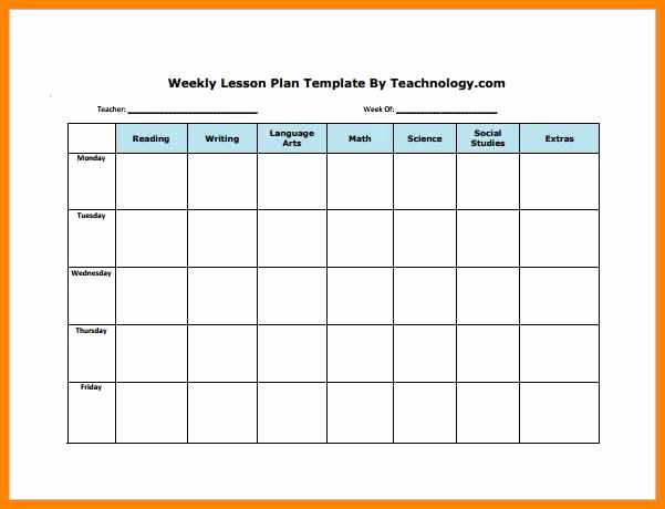 Free Editable Lesson Plan Template Fresh 6 Editable Weekly Lesson Plan Template