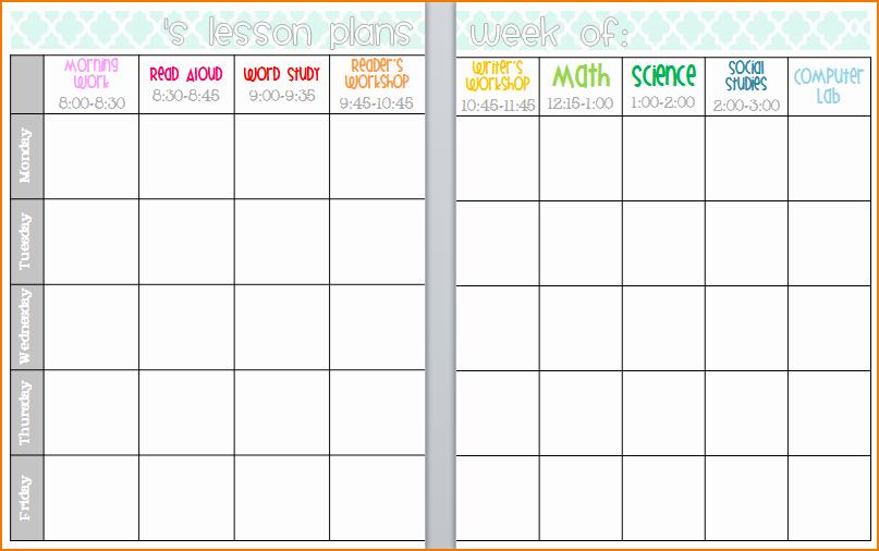 Free Editable Lesson Plan Template Luxury 5 Editable Lesson Plan Template