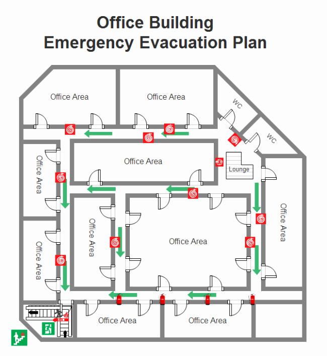 Free Evacuation Floor Plan Template Elegant Emergency Evacuation Plan