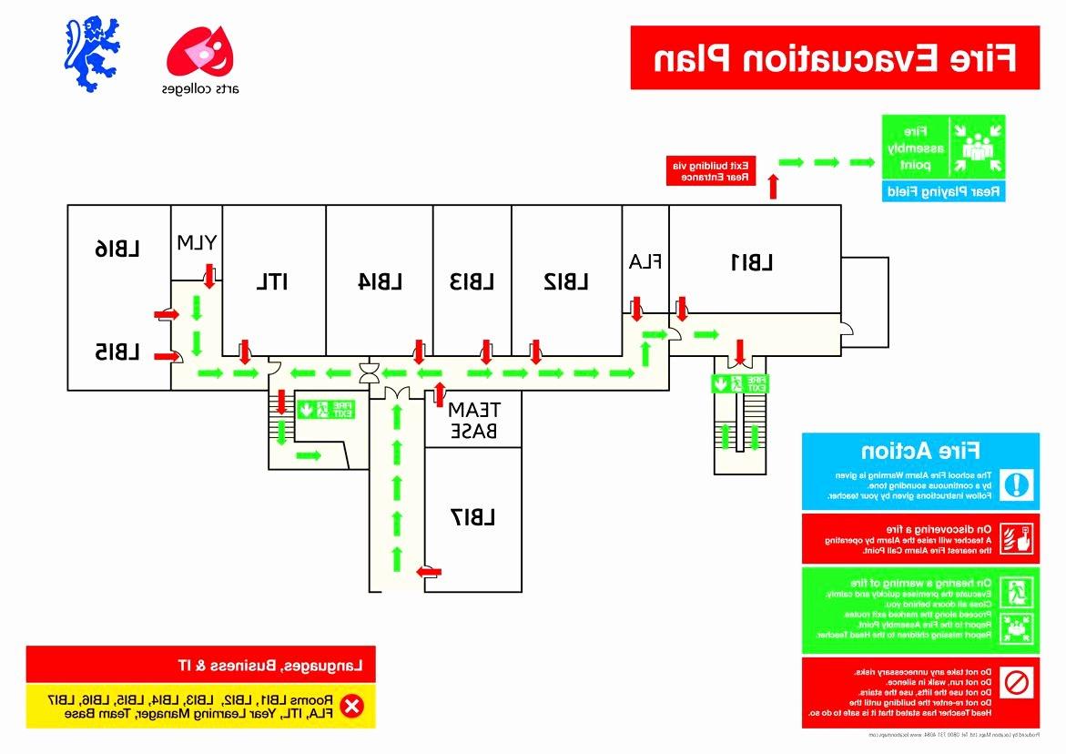 Free Evacuation Floor Plan Template Inspirational Emergency Evacuation Map Template Inspirational 24 New