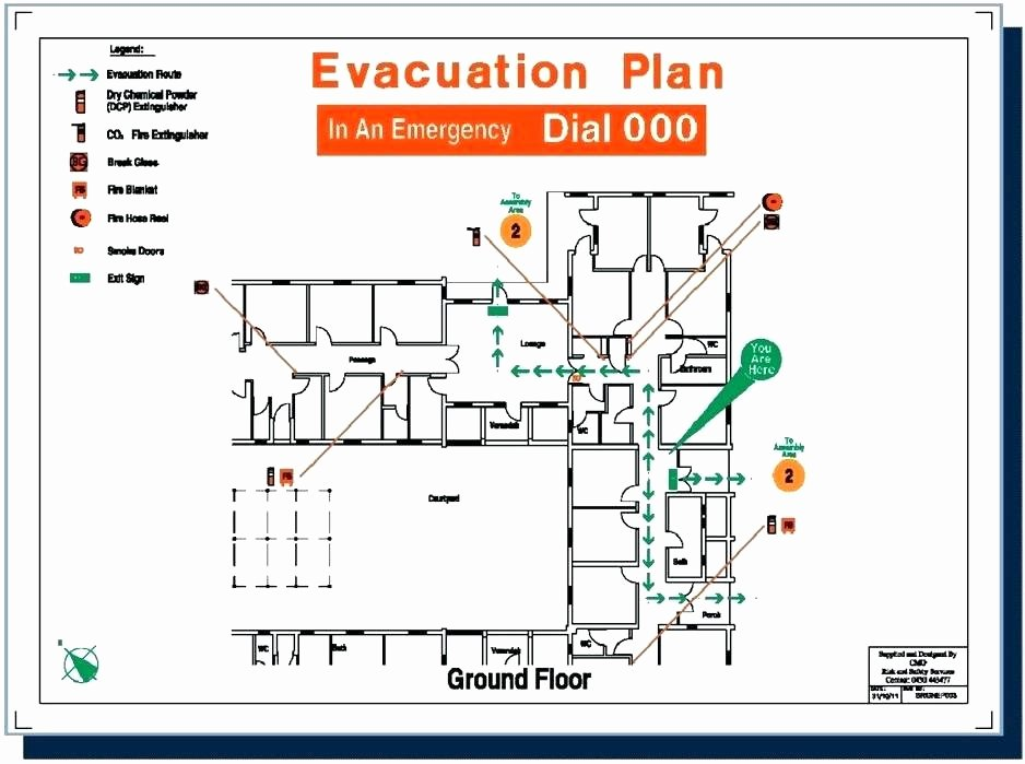 Free Evacuation Floor Plan Template Inspirational Emergency Exit Map Template Personal Emergency Evacuation