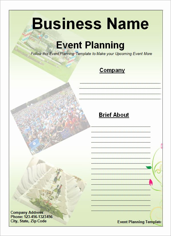 Free event Plan Template Beautiful 10 Sample event Planning Templates – Pdf Ppt Doc