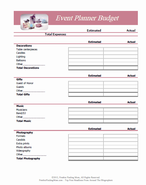 Free event Plan Template Beautiful Free Printable Bud Worksheets
