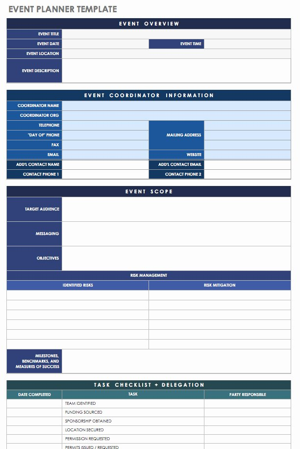 Free event Plan Template Fresh 21 Free event Planning Templates