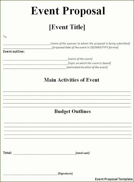 Free event Plan Template Inspirational event Proposal Template Free Download