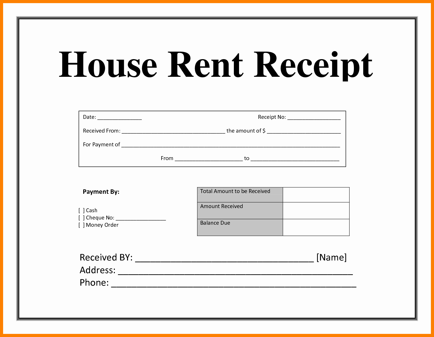 Free Fillable Rent Receipt Elegant Rent Receipt Pdf Bamboodownunder