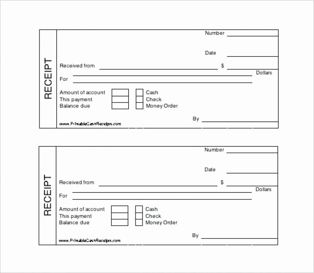 Free Fillable Rent Receipt Lovely Fillable Receipt Template Free Download Donation Rent Cash