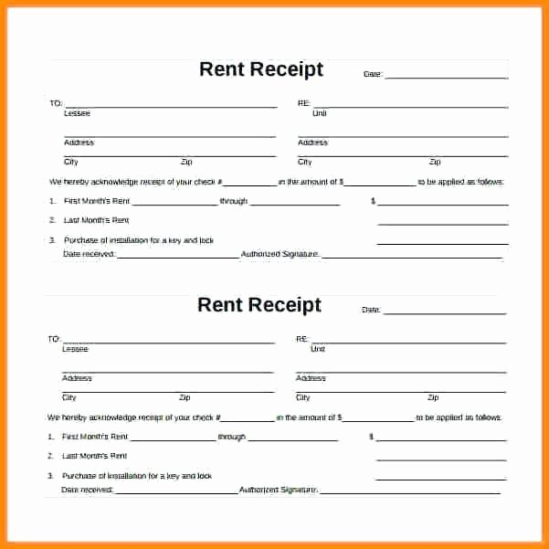 Free Fillable Rent Receipt Unique Free Fillable Rent Receipt Template Samarkandainfo