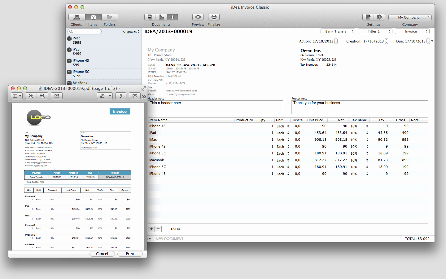 Free Invoice Template for Mac Elegant Free Invoice for Mac Simple Template Apple Store Get