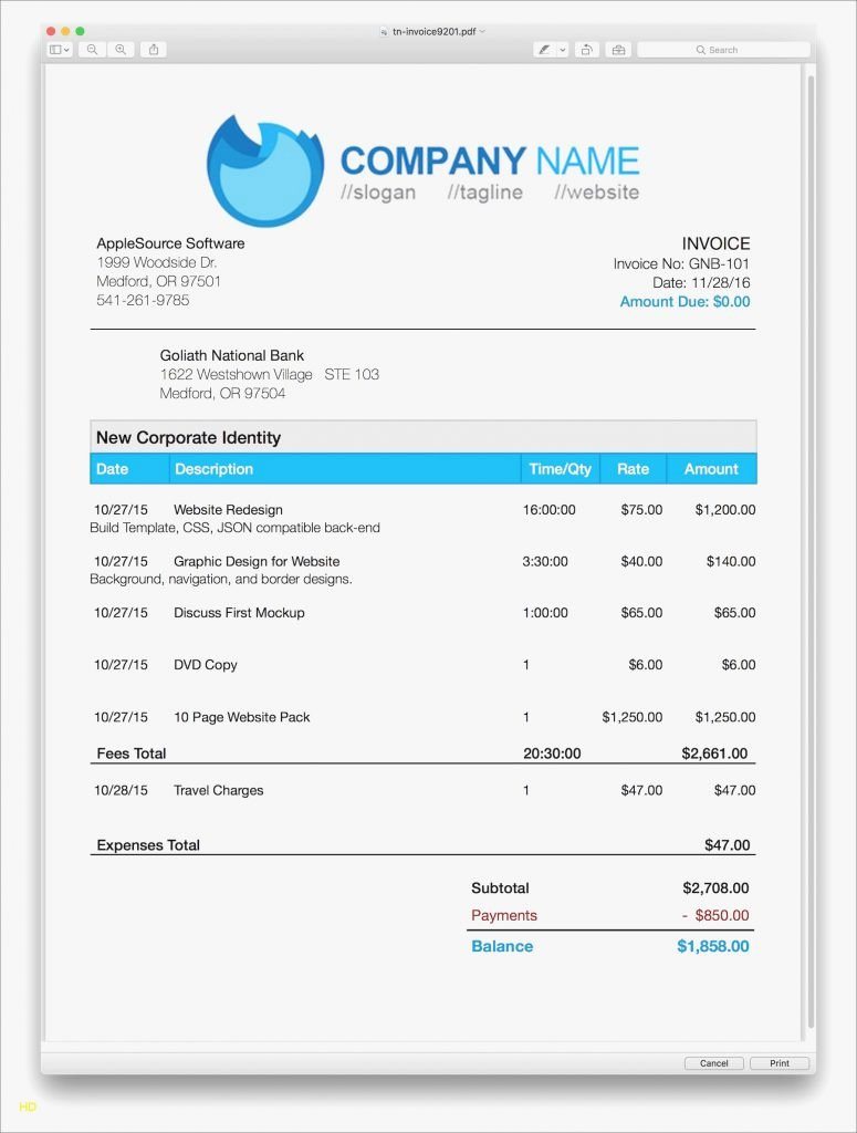 Free Invoice Template for Mac Unique Exceptional Invoice Template Mac Pages Apple Free