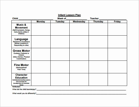 Free Lesson Plan Template Beautiful 8 Lesson Plan Templates – Free Sample Example format