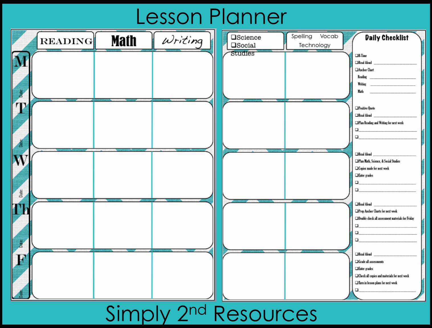 Free Lesson Plan Template Best Of Simply 2nd Resources Throwback Thursday Linky