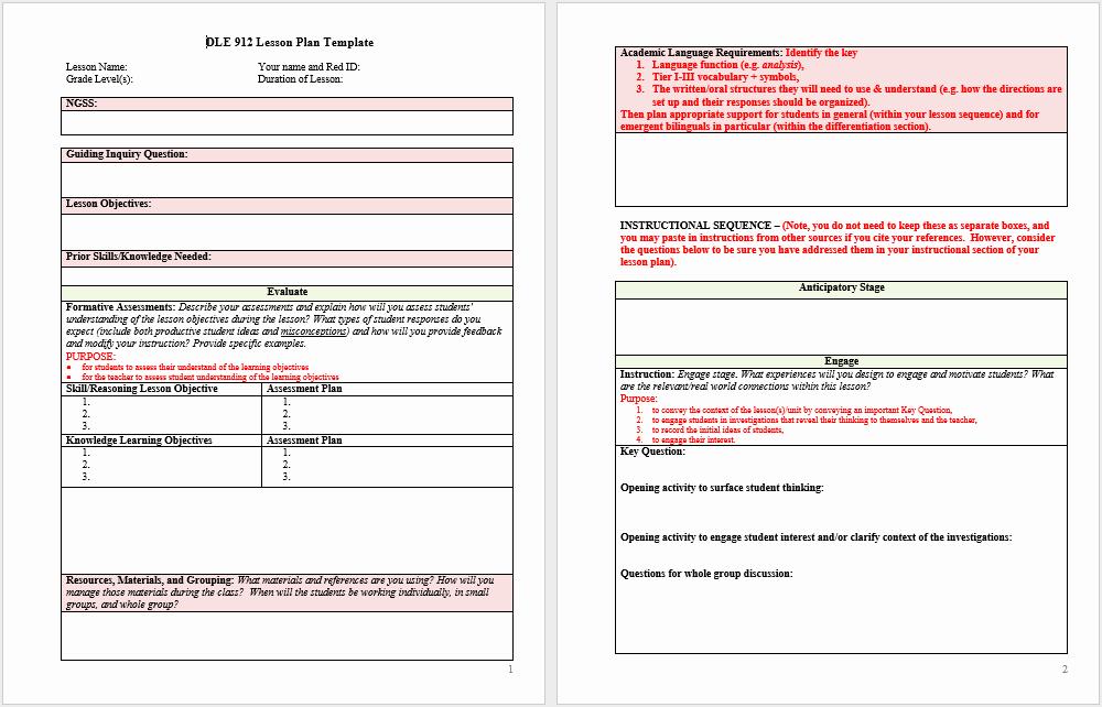 Free Lesson Plan Template Word Elegant 39 Free Lesson Plan Templates Ms Word and Pdfs Templatehub
