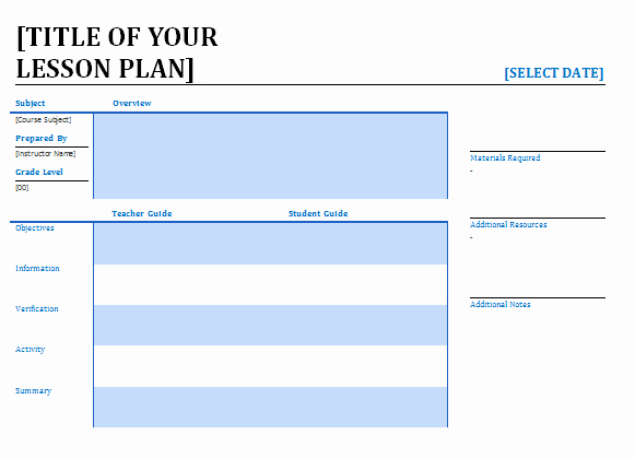 Free Lesson Plan Template Word Fresh Lesson Plan Template Word Editable Free Download
