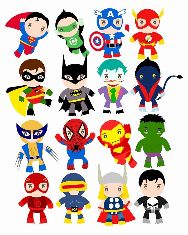Free Letter Templates for Bulletin Boards Awesome Free Superhero Party Clipart & Decoration Printables