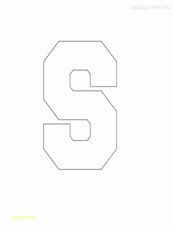 Free Letter Templates for Bulletin Boards Beautiful 25 Alphabet Letters Template Model Printable Letter S