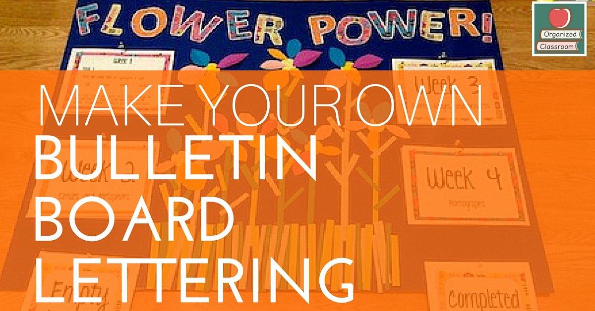 Free Letter Templates for Bulletin Boards Elegant Make Your Own Bulletin Board Lettering Tutorial