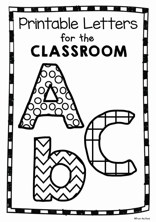Free Letter Templates for Bulletin Boards Fresh Free Printable Classroom Letters