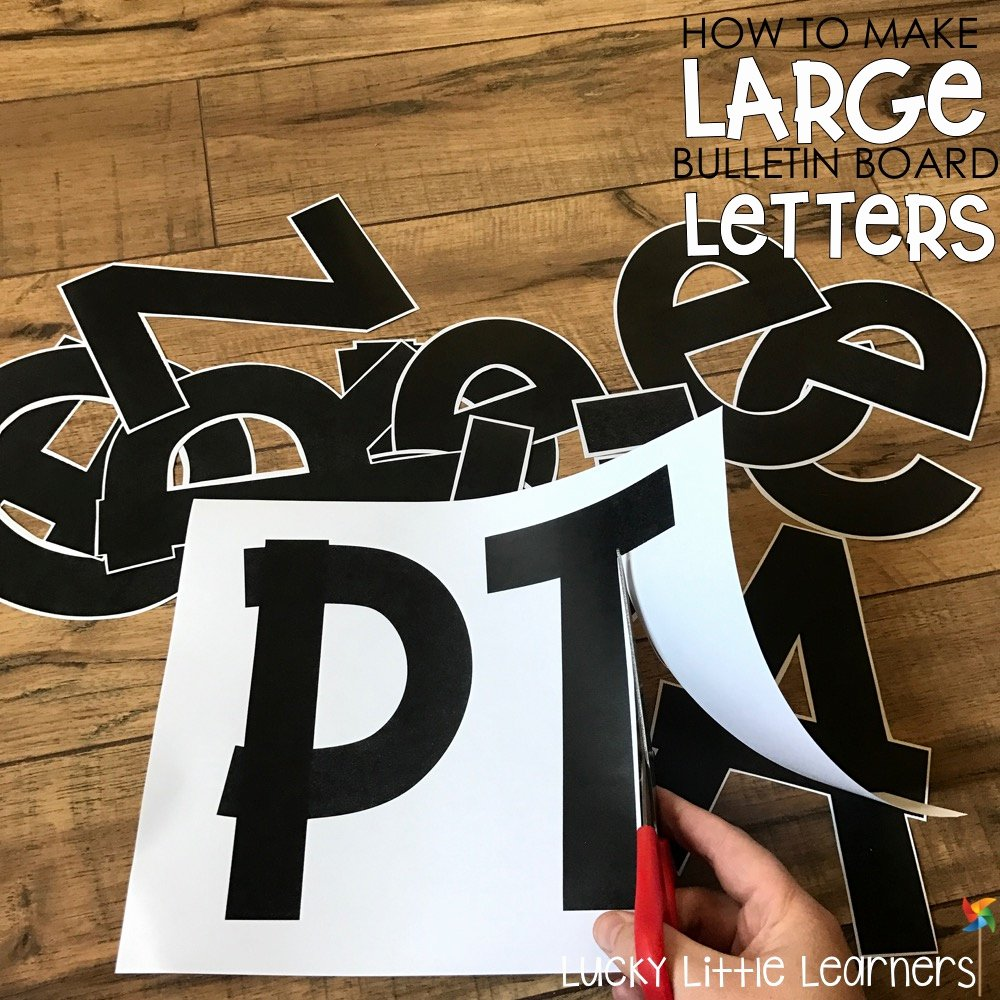 Free Letter Templates for Bulletin Boards Lovely How to Make Bulletin Board Letters Lucky Little
