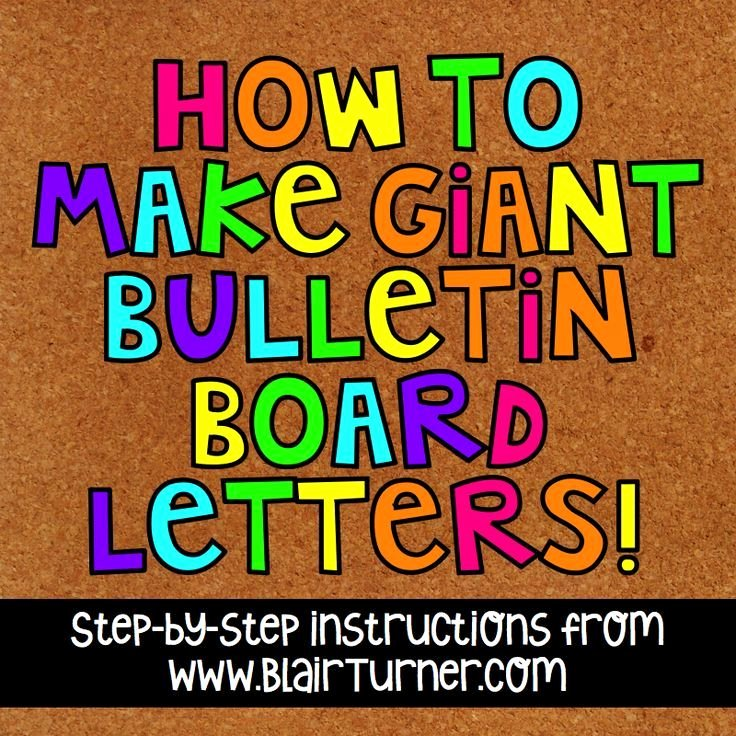 Free Letter Templates for Bulletin Boards New How to Make Giant Bulletin Board Letters Blairturner