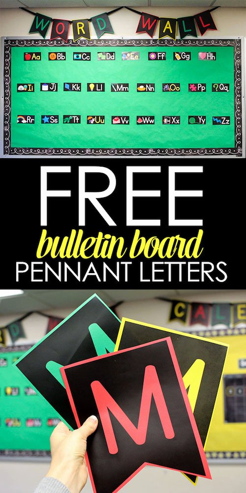 Free Letter Templates for Bulletin Boards Unique Quick and Easy Bulletin Boards with Free Pennant Letters