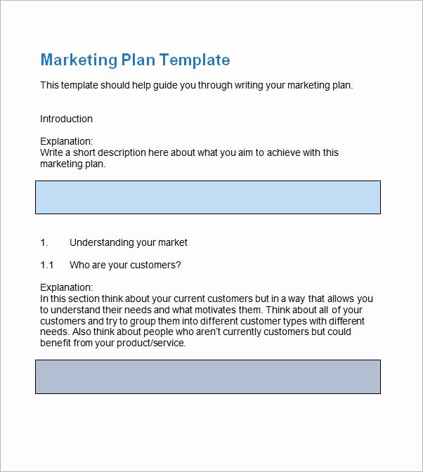 Free Marketing Plan Template Word Awesome Sample Marketing Plan Template 13 Free Documents In