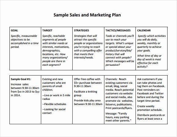 Free Marketing Plan Template Word Best Of Free Sales Plan Templates Free Printables Word Excel