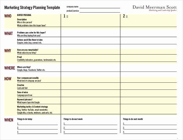Free Marketing Plan Template Word Best Of Marketing Strategy Plan Template 13 Word Pdf Documents