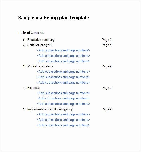 Free Marketing Plan Template Word Best Of Sample Marketing Plan Template 9 Free Documents In Word