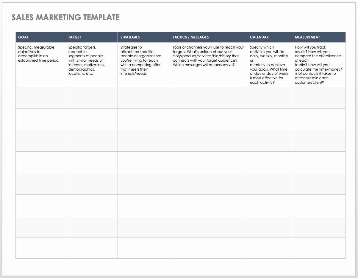 Free Marketing Plan Template Word Elegant Free Sales Pipeline Templates