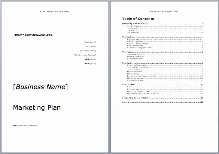 Free Marketing Plan Template Word Fresh Marketing Plan Template Microsoft Word Templates