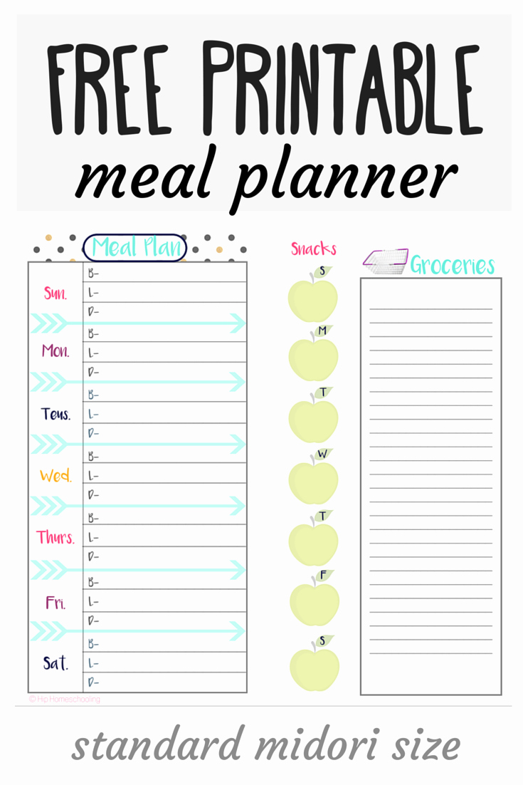 Free Meal Plan Template Beautiful Check Out This Free Meal Planner and Grocery List Midori