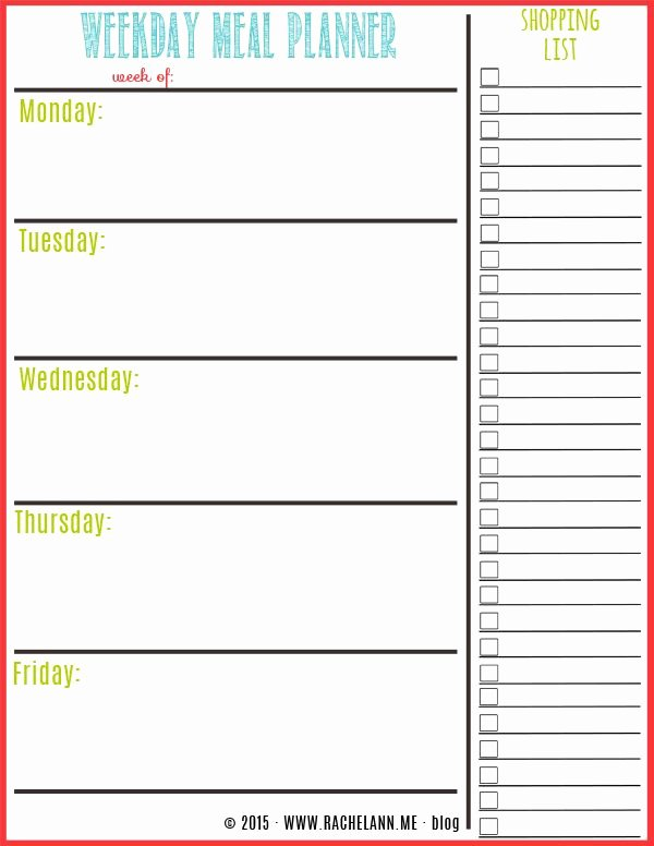 Free Meal Plan Template Fresh Free Meal Planner Food Tips & Healthy Eating