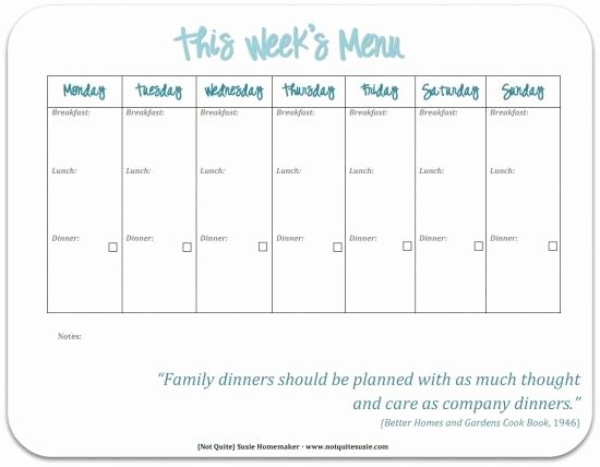 Free Menu Plan Template Best Of 30 Family Meal Planning Templates Weekly Monthly Bud