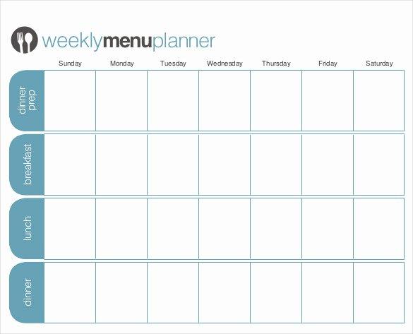 Free Menu Plan Template Inspirational 31 Menu Planner Templates Free Sample Example format