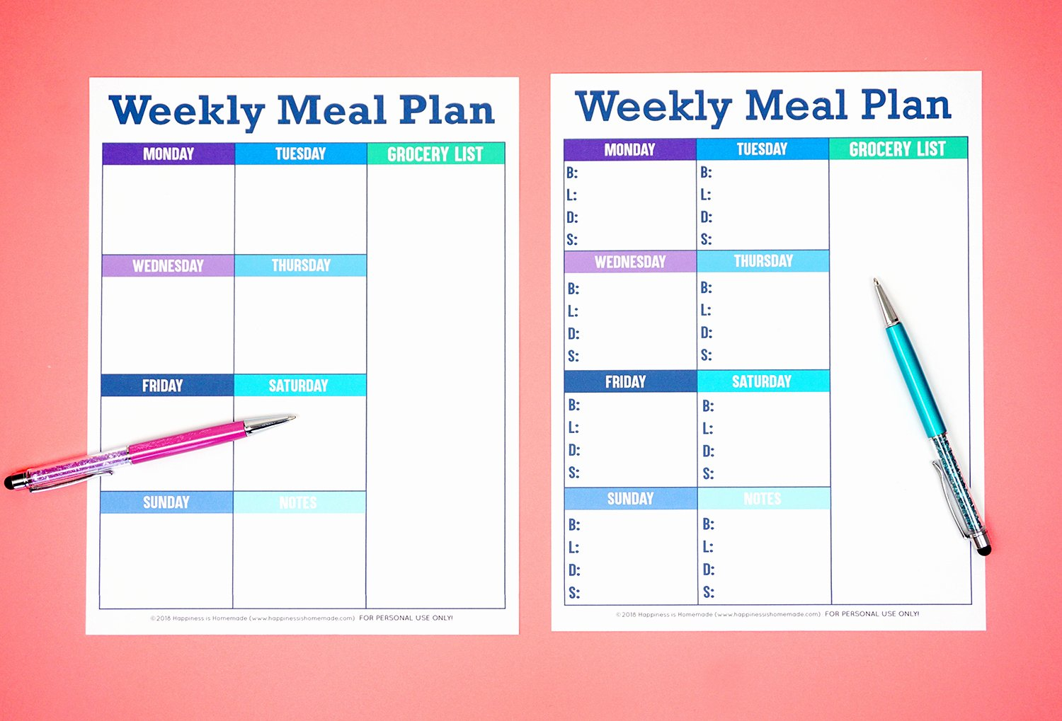 Free Menu Plan Template Inspirational Printable Weekly Meal Planner Template Happiness is Homemade
