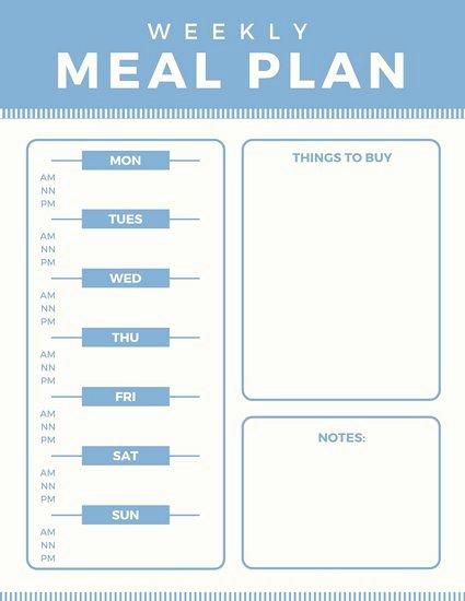Free Menu Plan Template Luxury Customize 610 Planner Templates Online Canva