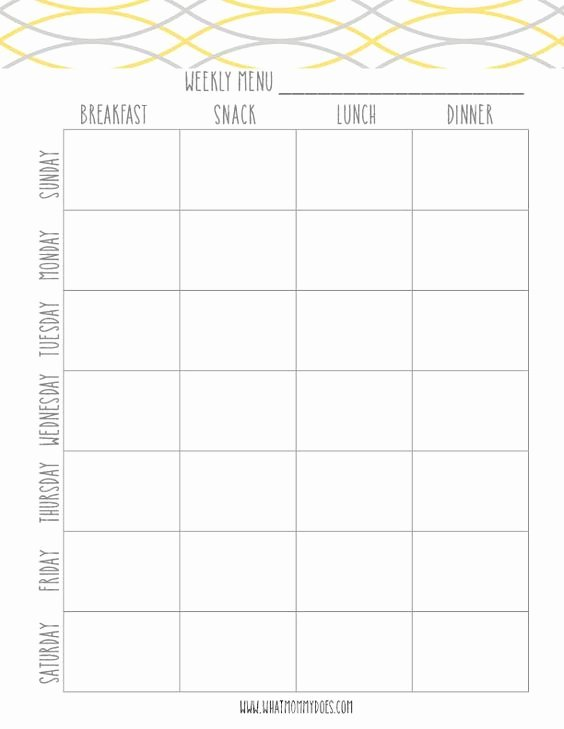 Free Menu Plan Template Luxury Free Printable Weekly Meal Plan Template Super Cute Menu