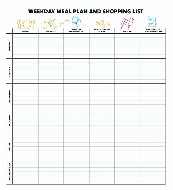 Free Menu Plan Template Unique Best 25 Meal Planning Templates Ideas On Pinterest
