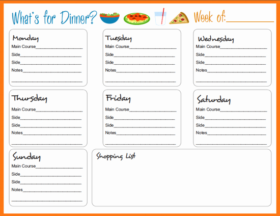 Free Menu Plan Template Unique Meal Planning Templates On Pinterest