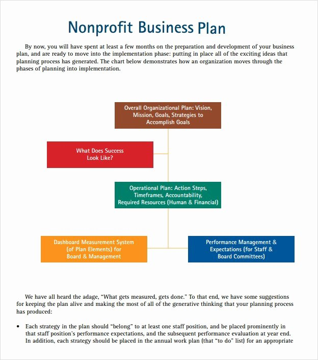 Free Nonprofit Business Plan Template New Example Of A Business Plan for A Nonprofit