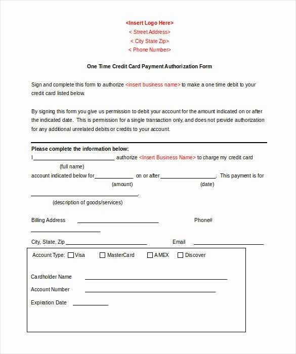 Free Online Payment form Awesome 5 Credit Template Doc Pdf Eps