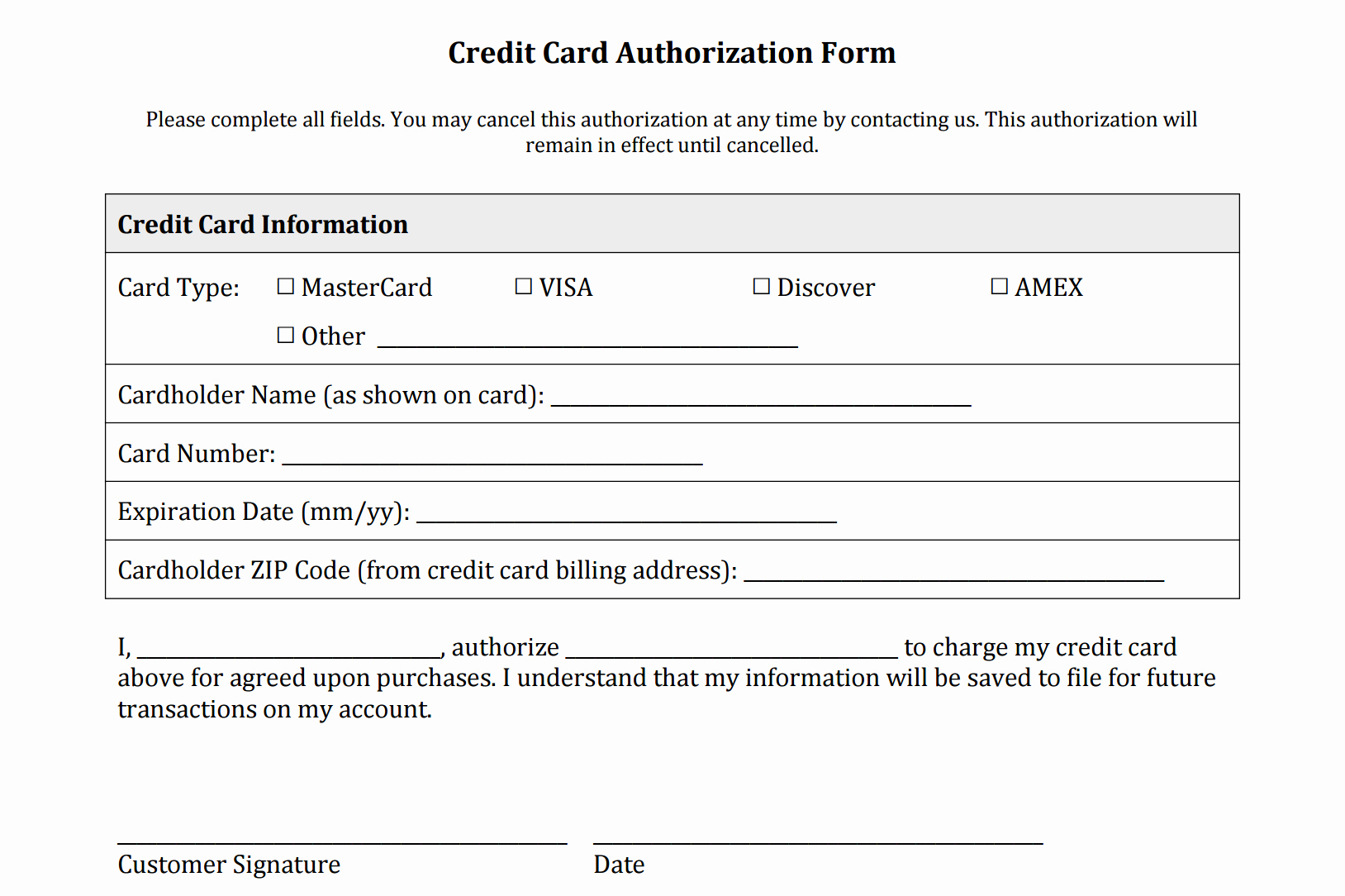 Free Online Payment form Fresh Credit Card Authorization form