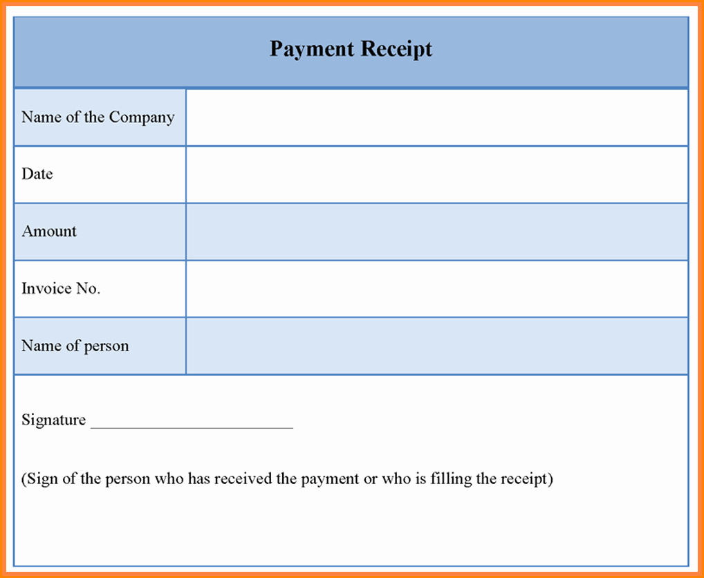 Free Online Payment form Lovely 7 Payment Receipt form