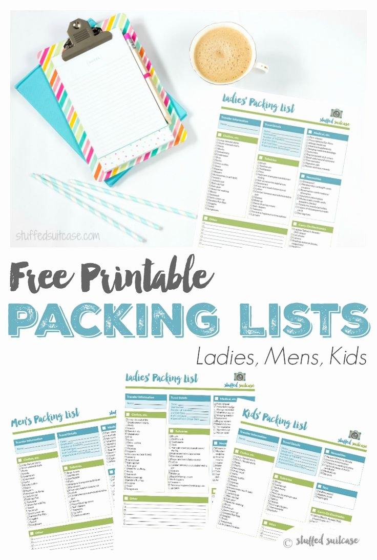 Free Packing List Template Best Of Best 25 Packing List Template Ideas On Pinterest