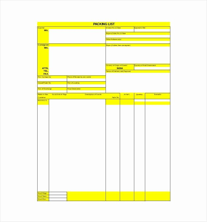 Free Packing List Template Luxury 24 Packing List Templates Pdf Doc Excel