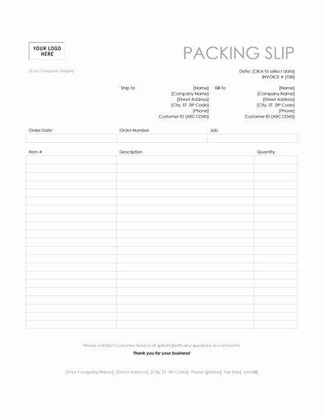 Free Packing Slip Template Beautiful Packing Slip Simple Lines Design Fice Templates Packing